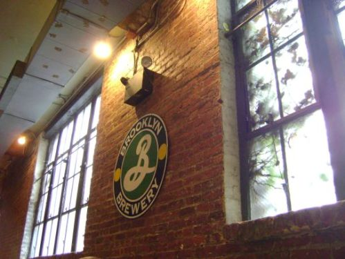 Aaand the wall I sat next to waiting for friend. Brooklyn Brewery, you're like coming home to an old friend.-♥